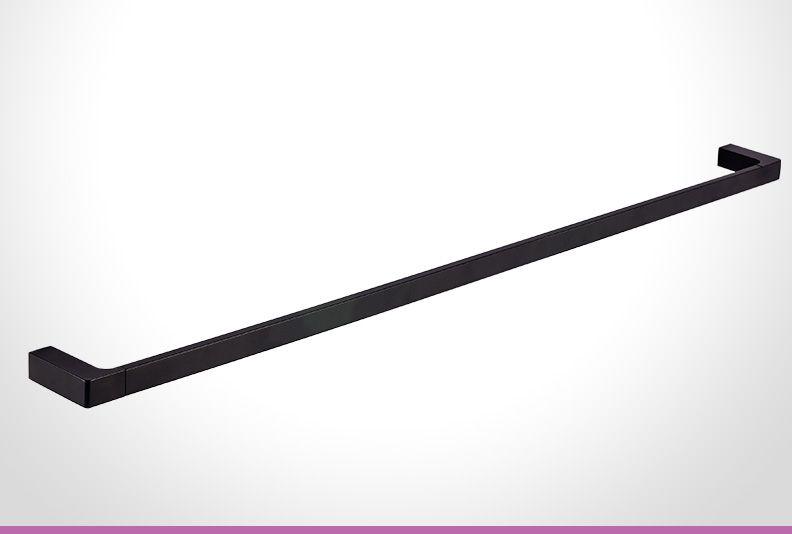 Black 400mm Towel Radiator: Vivace Matte Black 900mm Towel Rail