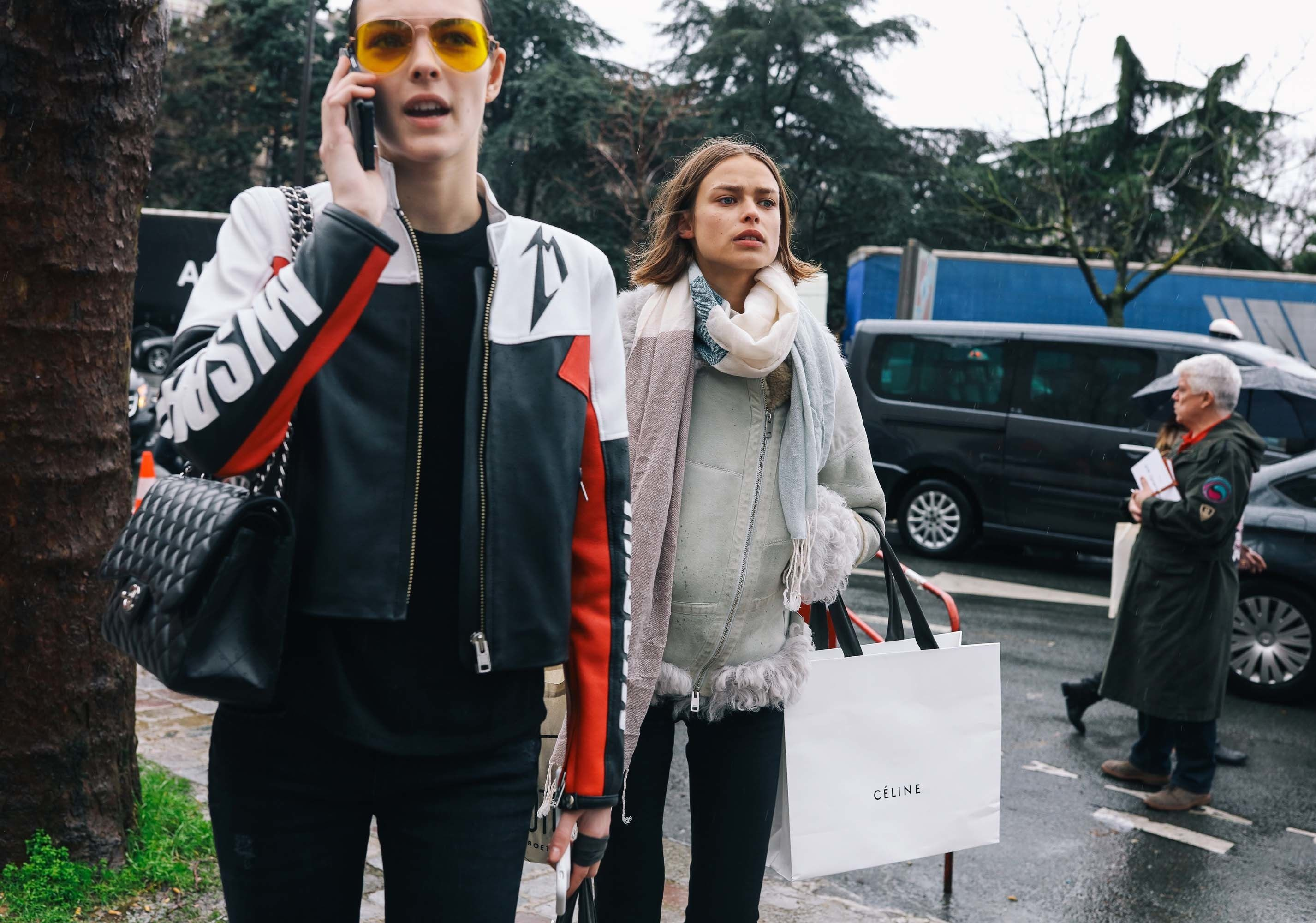Vittoria Ceretti in a Misbhv jacket and Chanel bag