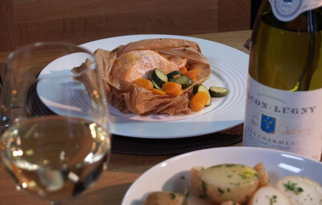 Salmon & Spring Vegetable Parcels : Recipes from Ocado