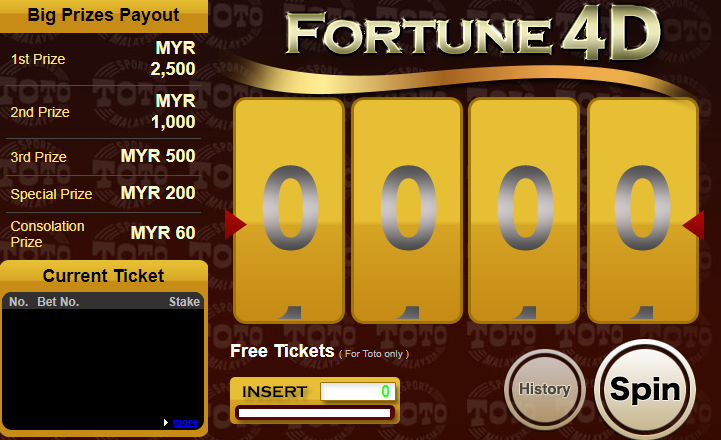 Free token to win up to MYR2500! Join us now and get your Fortune 4D