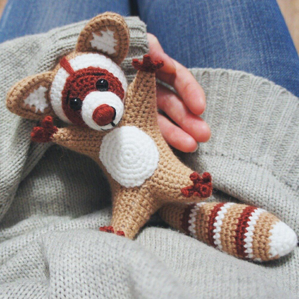 Raccoon amigurumi pattern | Häkeln, Strick und Stricken und häkeln