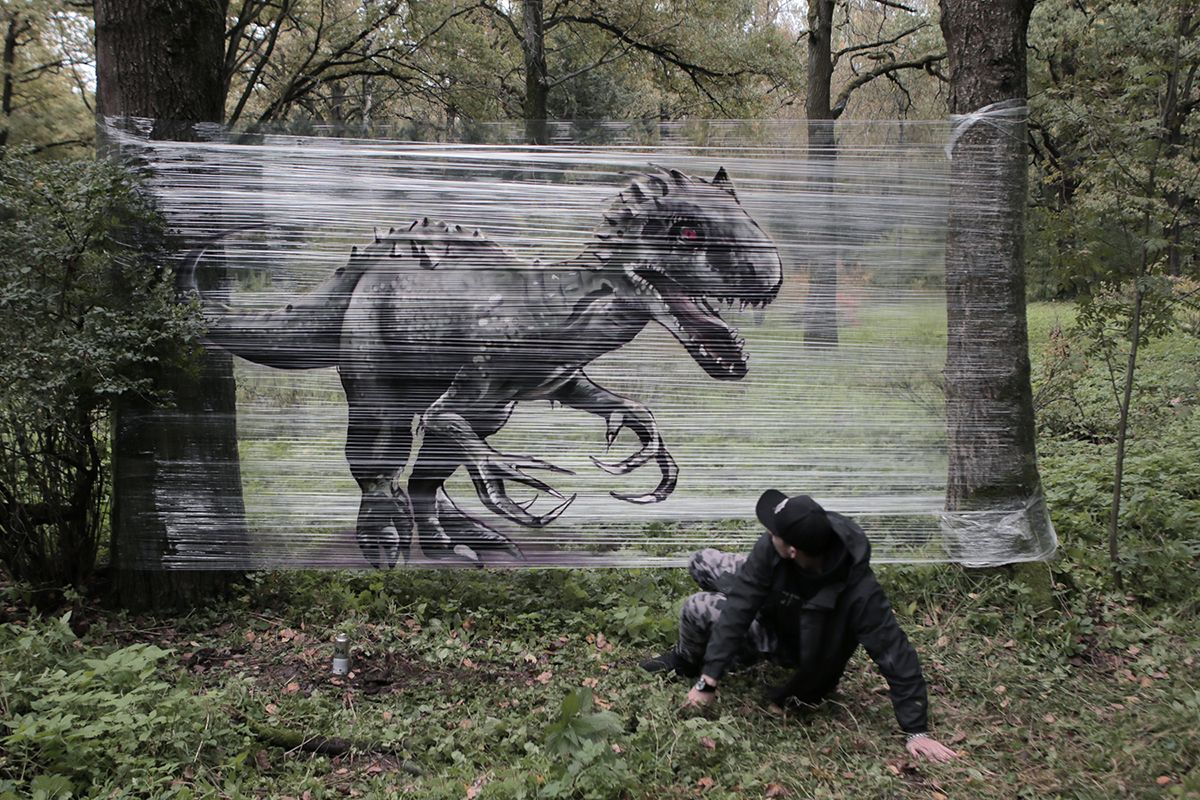 This Artist Creates 'Cellograffiti' Animals In The Forests Of Russia