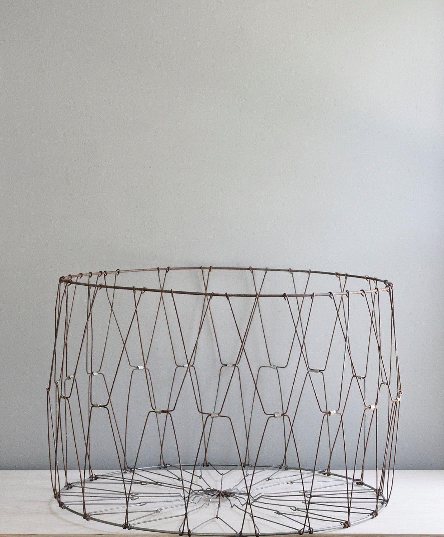 Beautiful Vintage Wire Laundry Basket Embellishment - Wiring Diagram ...