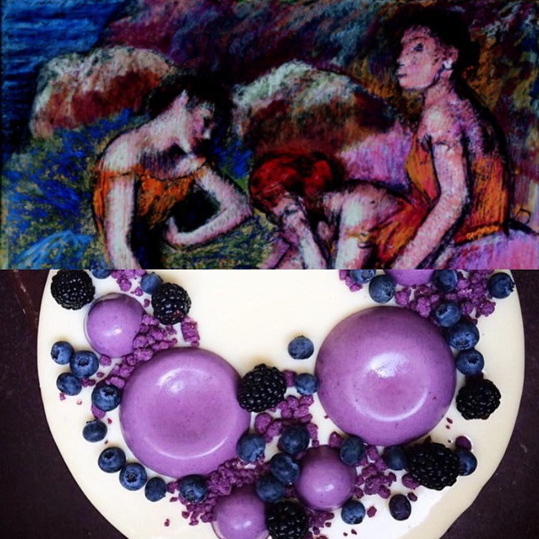 "Art: Edgar Degas ""Danseuses au repo"". Plating: Dorotea Malmegard @dmalmegard by platetheart"