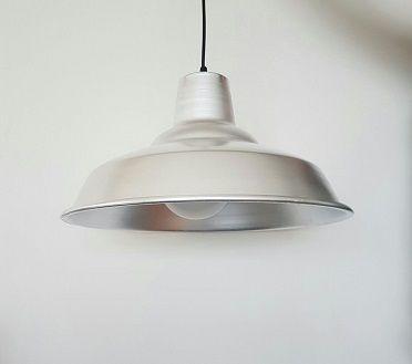 Lampara Colgante Campana Industrial De Aluminio Apta Led 259 00 Lamparas Colgantes Aluminio Led