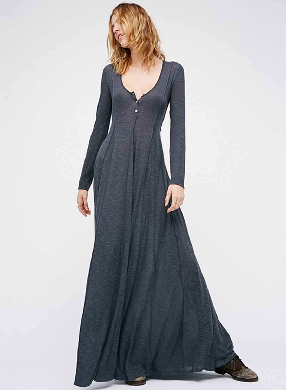 Scoop neck long sleeve maxi dress sewing patterns pinterest