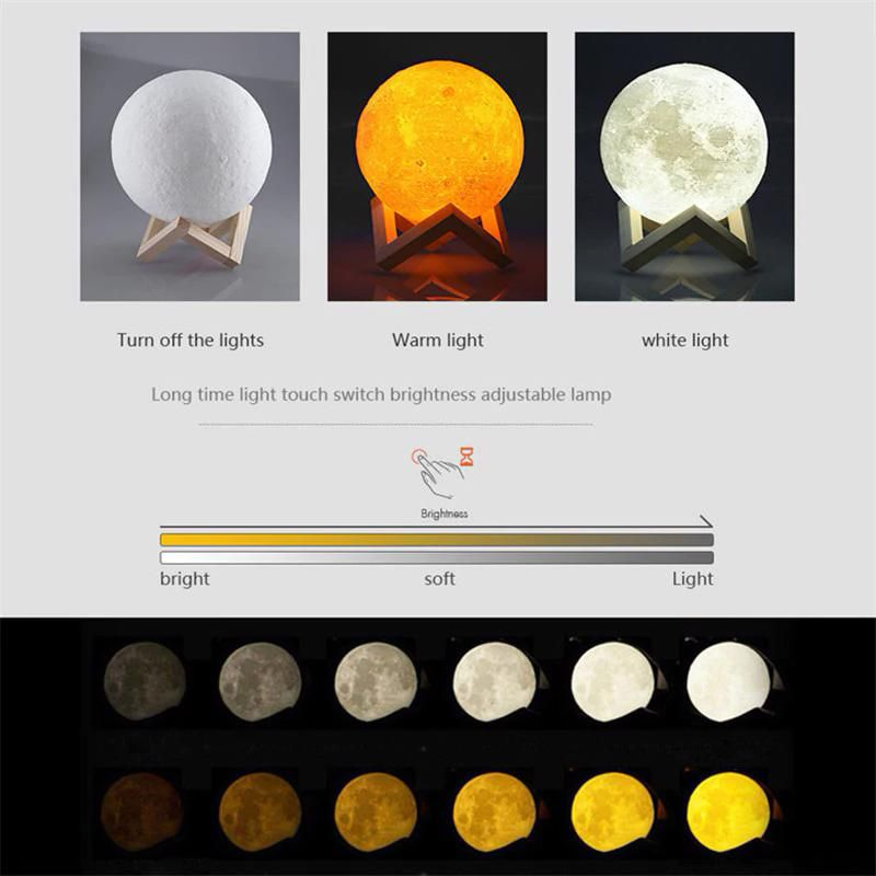Luna Mond Nachtlampe In 2020 Moon Light Lamp Lamp Soft Lighting