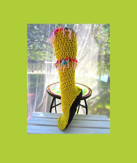 Slipper Socks, Mukaluks, Funky Slipper Sockss, Boho Slipper Socks, Womens Slippers, Womens Slipper Socks, Makaluk Slipper Socks via Etsy