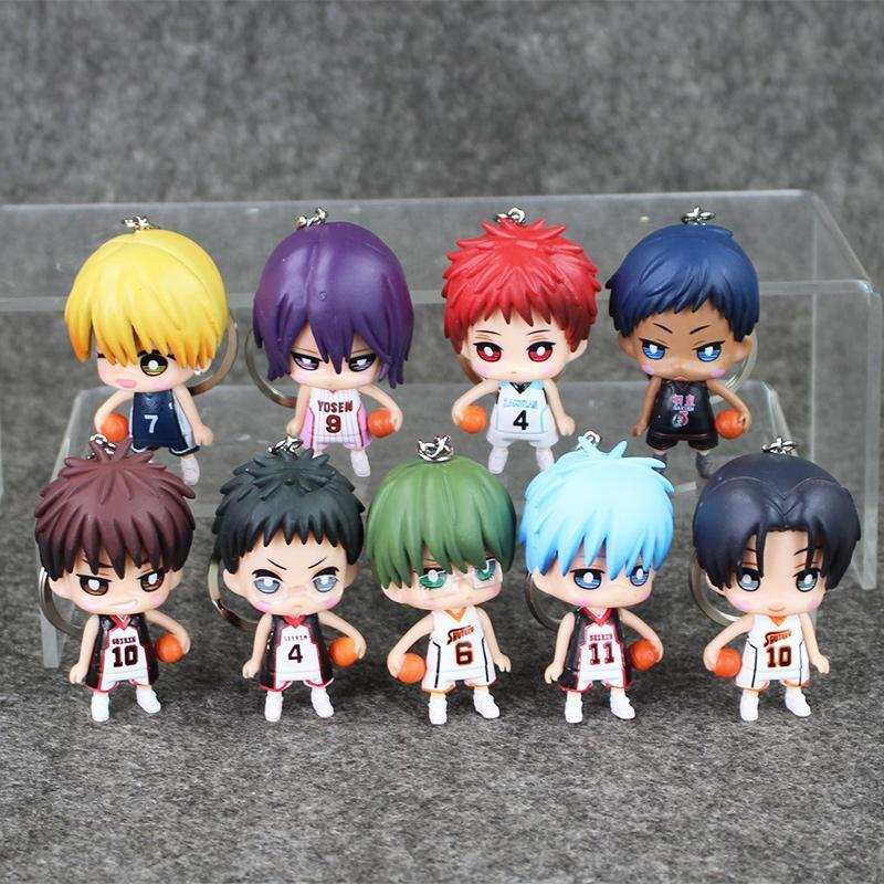 9pcslot kurokos basketball mini figure toys keychains