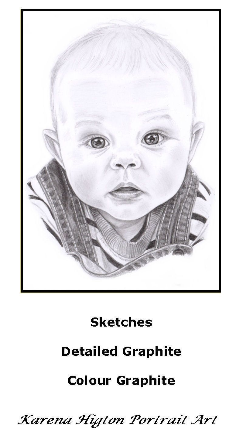 a5 baby boy sketch drawing child pencil portrait a5 sketches from 15