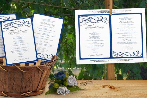Diy Wedding Fan Program Template DOWNLOAD by DiyWeddingTemplates