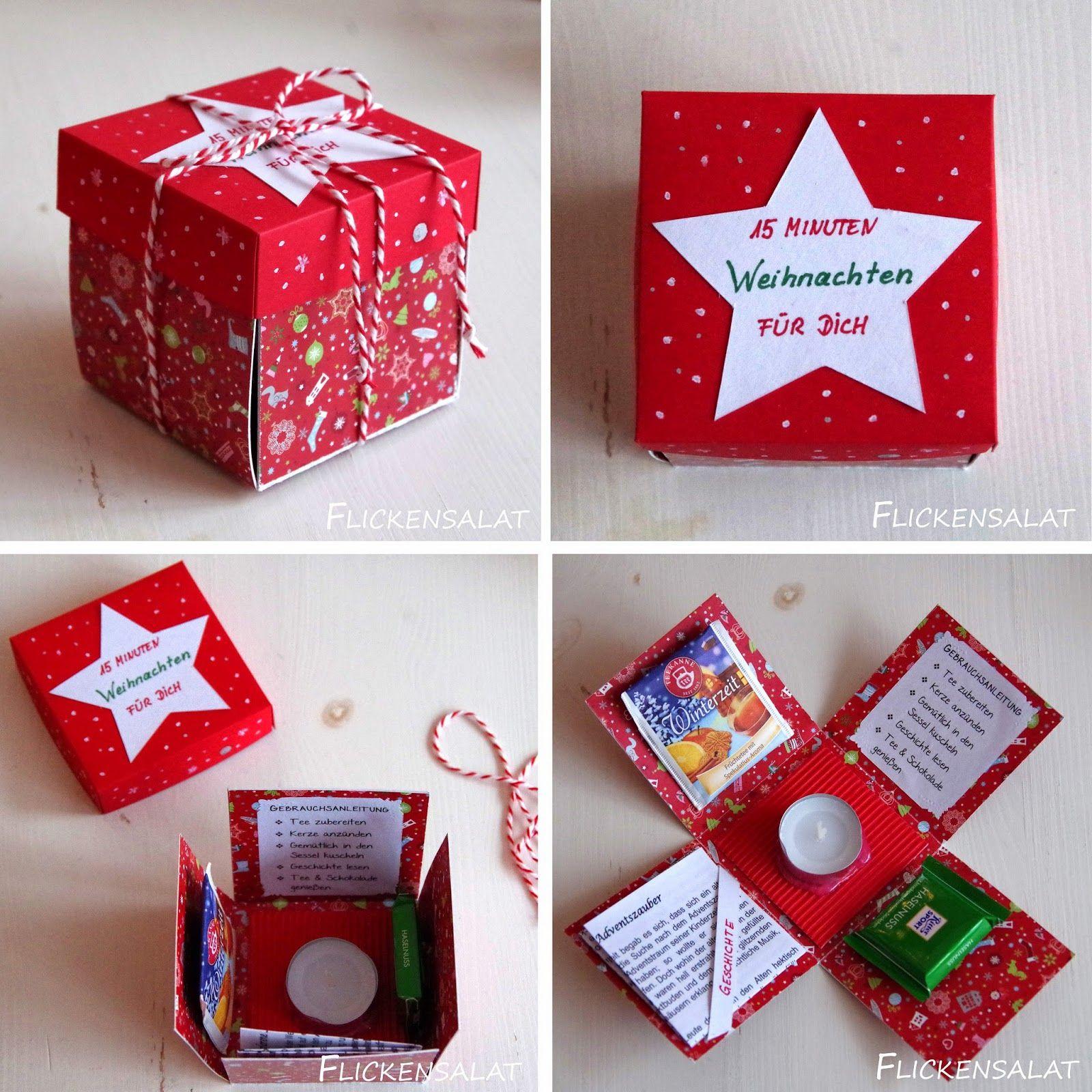 Flickensalat | Geschenke weihnachten, Basteln weihnachten