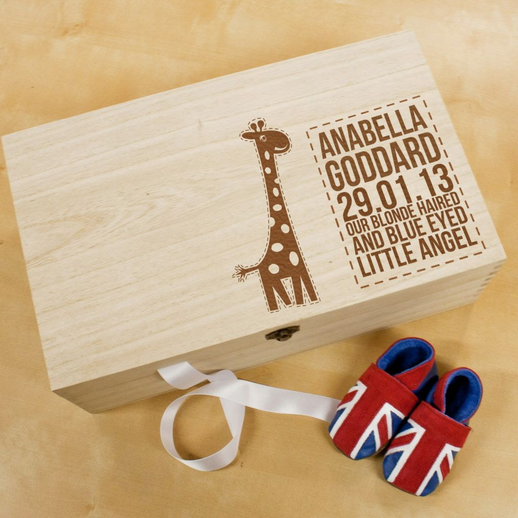 Christening and new baby gift baby giraffe wooden keepsake box christening and new baby gift baby giraffe wooden keepsake box at persoanlised kids gifts personalised babygifts uknew negle Images