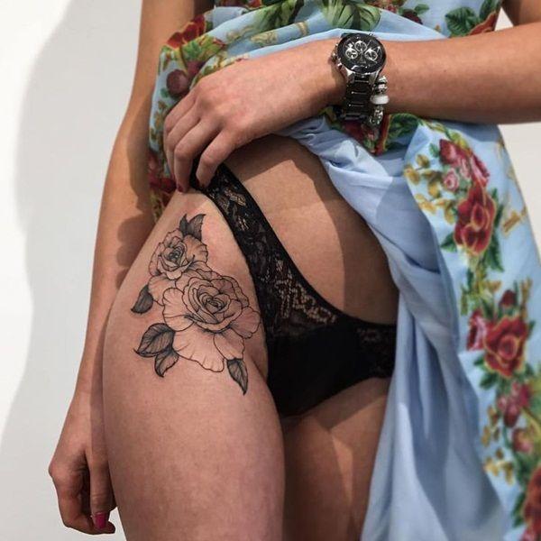 Black bikini glock tattoo