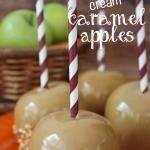 Cream Caramel Apples