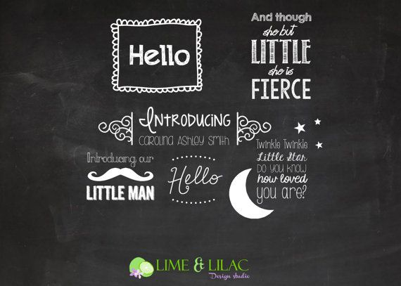 Photo Overlays Birth Announcement Template Chalk Chalkboard Baby Newborn Psd Card Photography Marketing PHOTOSHOP USERS ONLY