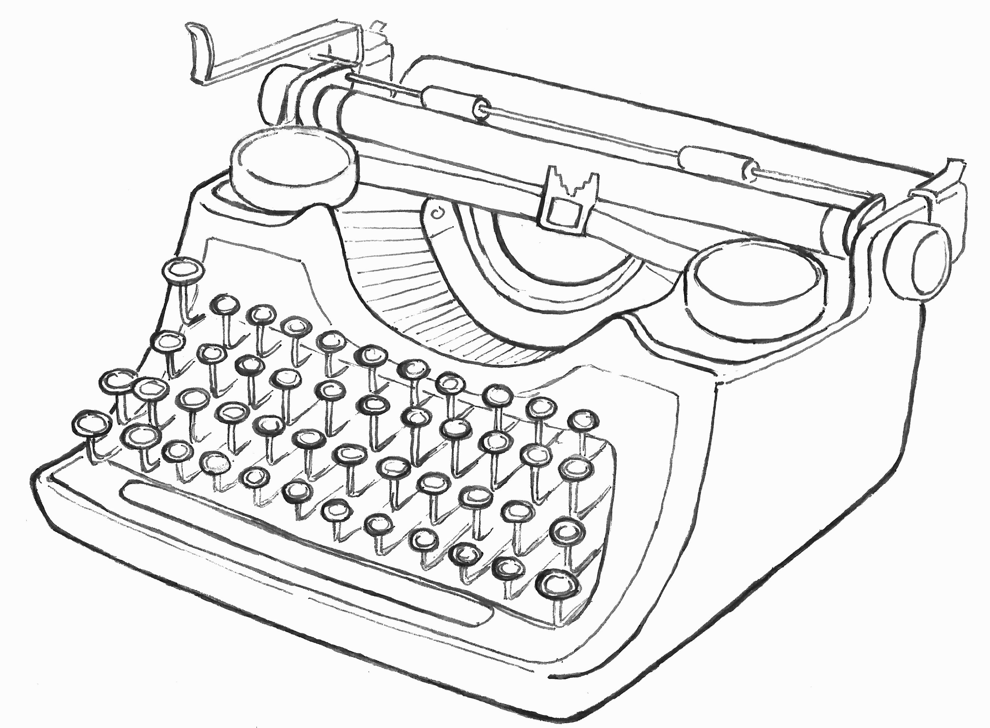 typing and coloring pages | Typewriter Illustration | Infinite Images | Pinterest ...