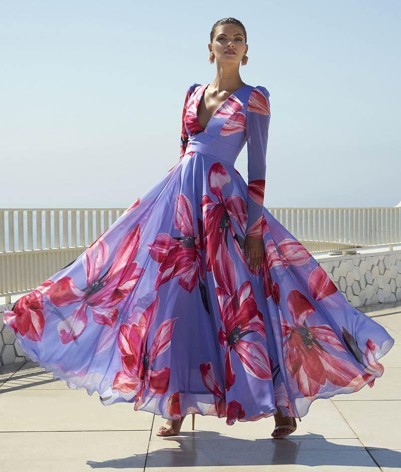 Vestidos de Fiesta Carla Ruiz 2019, colores vivos y sensacionales detalles