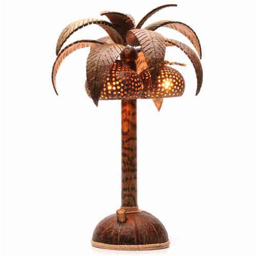 d sir d co lampe de chevet palmier en noix de coco desir deco. Black Bedroom Furniture Sets. Home Design Ideas