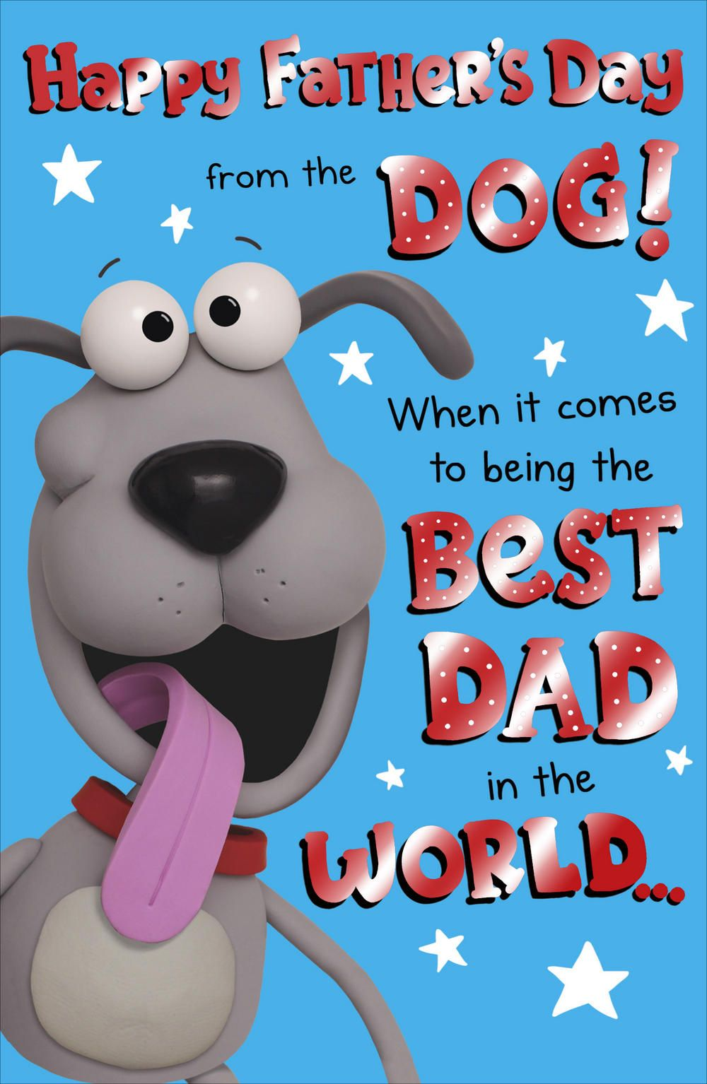 To Dad From The Dog Happy Father's Day Card Happy
