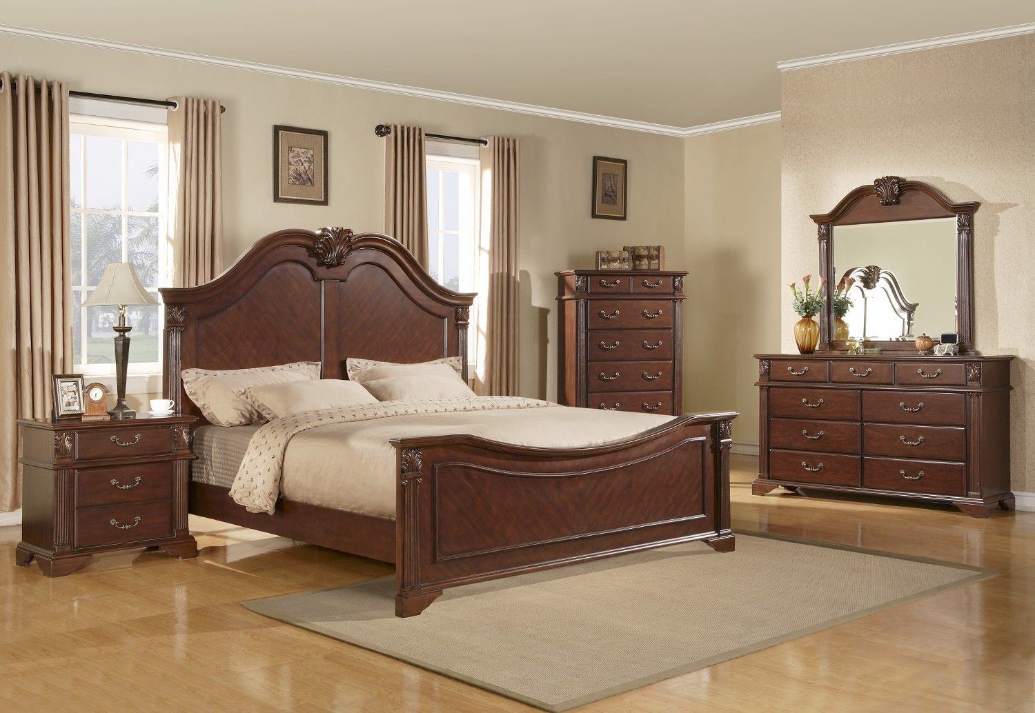 Muebles Rey Dormitorios Queen Panel Bed Cherry At North Carolina Furniture