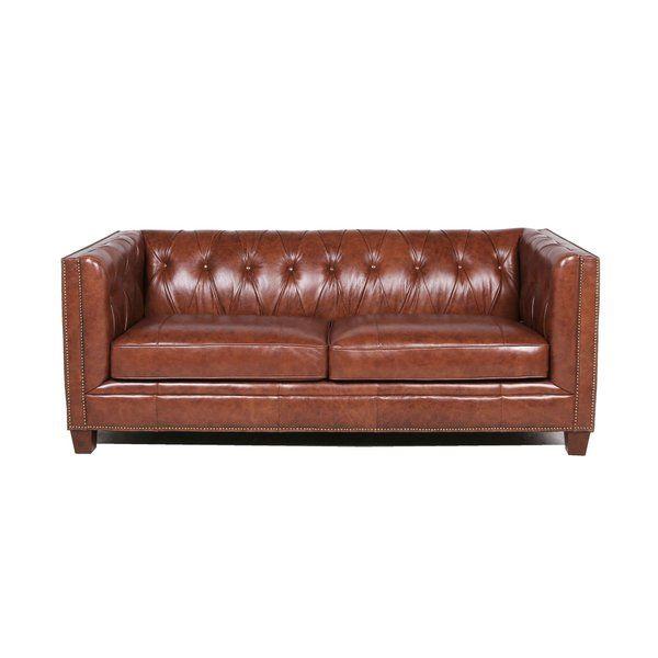 Katy Leather Chesterfield Sofa Reviews Birch Lane