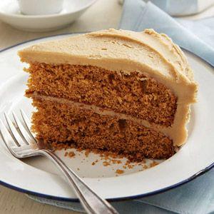Spice Cake with Creamy Caramel Icing