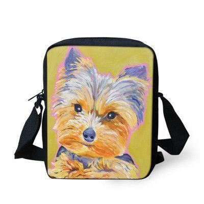 Casual Women Messenger Bags Painting Dog Crossbody Bags for Girls High Quality Children Shoulder Bag Student Kids Messenger Bag