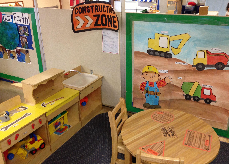 Preschool Classroom Name Ideas : Dramatic play construction zone toddler room