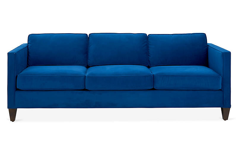 Cecilia Sleeper Sofa, Royal Blue Velvet | Blue sleeper sofa ...