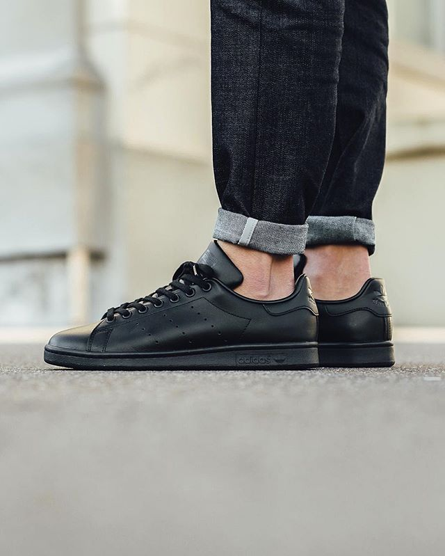 free shipping f1eb3 89fd5 Adidas Stan Smith - Black Black Black available now in-store and online Titolo  Shop Berne Zurich ⬆ link in bio. US 4.5 (36 2 3) - US 11 (45 1 3)