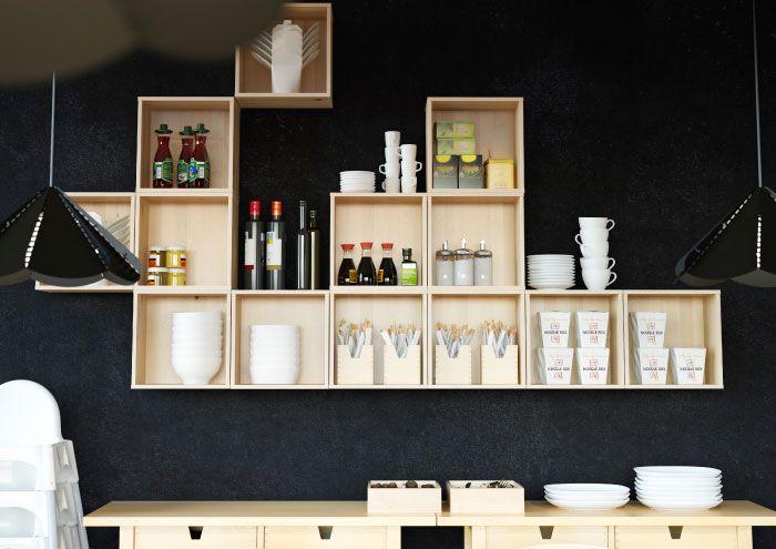 Best Förhöja Small Wall Cabinets In Solid Birch With Chopsticks 640 x 480