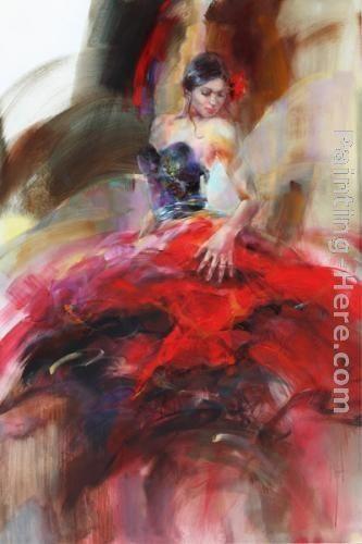 """Scarlet Salsa"" | #Oil #painting by Anna Razumovskaya"