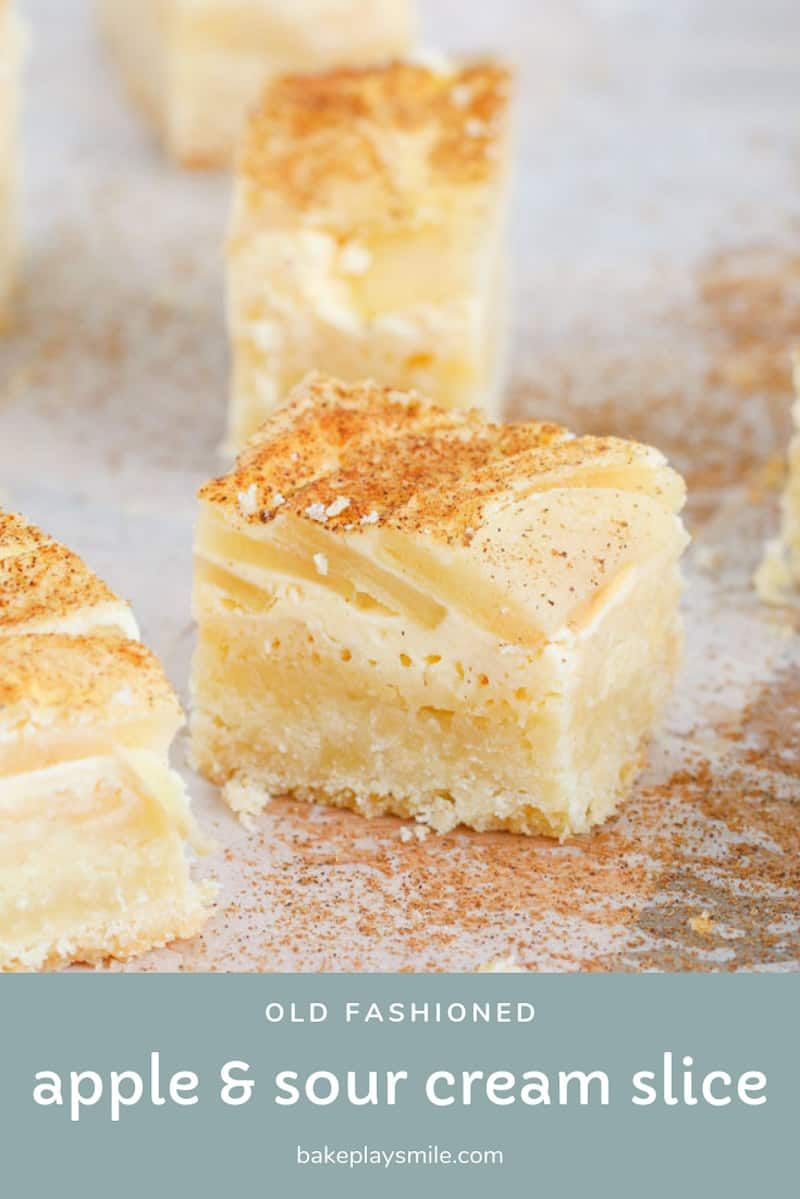 Apple Sour Cream Slice Recipe In 2020 Apple Dessert Recipes Apple Sour Cream Slice Apple Recipes