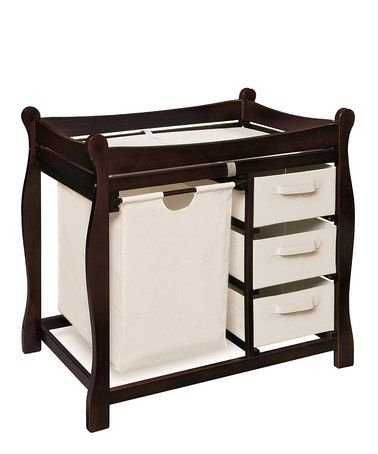 Take a look at this Espresso Sleigh Changing Table by Badger Basket on #zulily today!