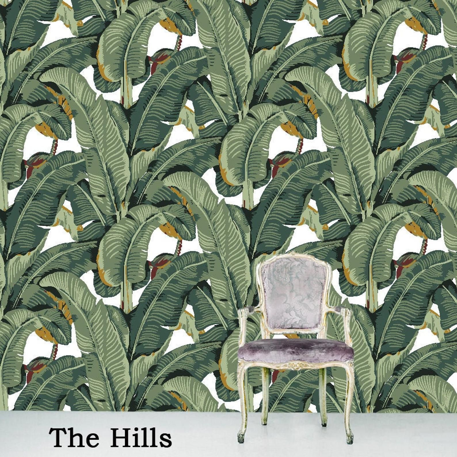 Banana Leaf Tropical Removable Wallpaper- Simply Peel and ...