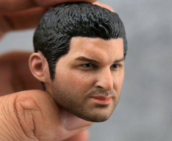 """1//6 Scale Male Head Sculpt Dou Zhanshen Holy Monk Beard Ver Model Fit 12/"""" Body"""