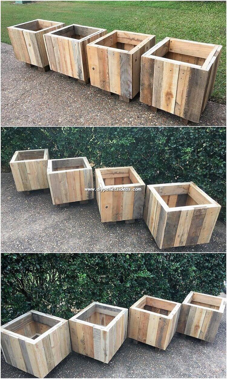 diy pallet wood garden box