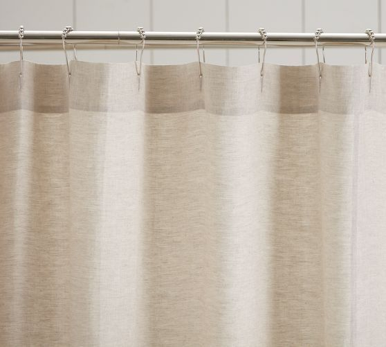 Beige Shower Curtain Click On The Image To See Bottom Part Has Ruffles