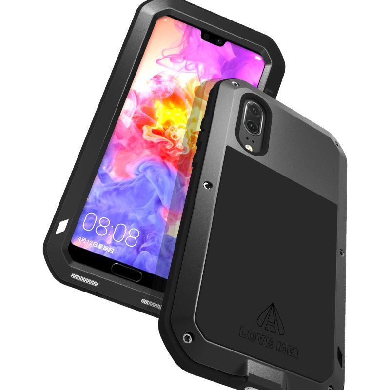 Phone Case Huawei P20, Huawei P20 Pro LOVE MEI Metal Silicone TPU ...