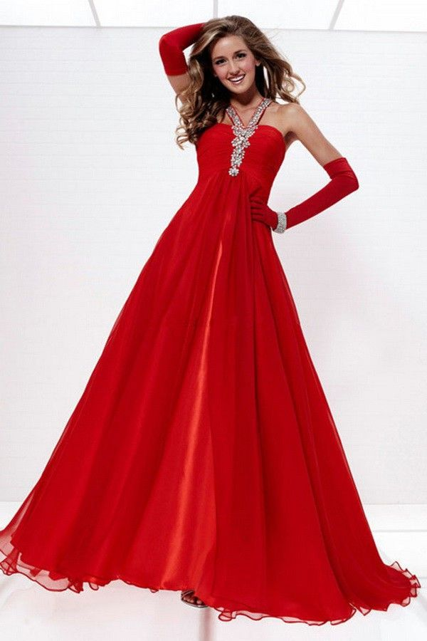 Fashion Chiffon Natural Cheap Red Prom Dresses Under 100 | Prom ...