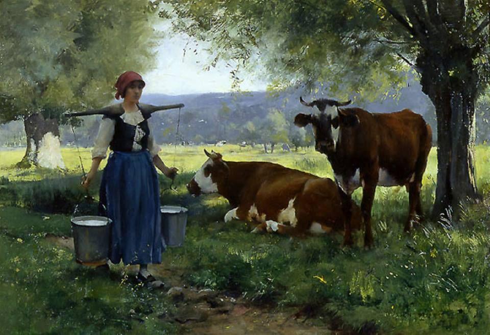 Открытка с коровой