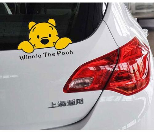 Winnie the pooh car decoration decal