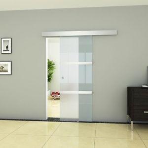 vidaxl porte coulissante en verre vitr e int rieur vitre porte lat rale 205x75cm pinterest. Black Bedroom Furniture Sets. Home Design Ideas