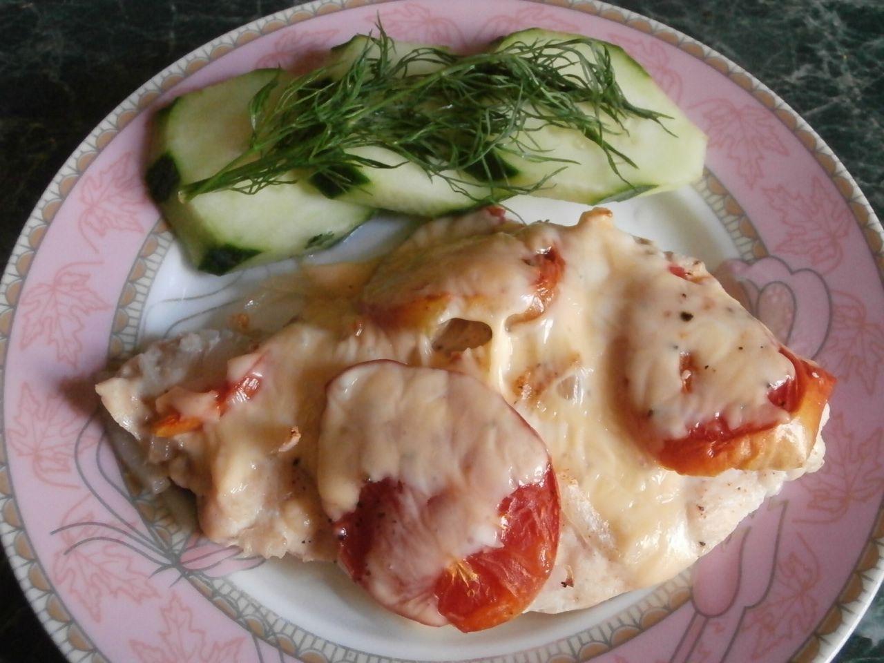 Калорийность куриной отбивной с сыром в духовке