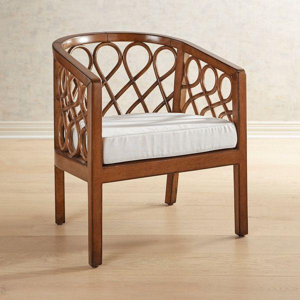 Pier 1 Imports Connell Geometric Rattan U0026 Wood Chair (15.220 RUB) ❤ Liked On