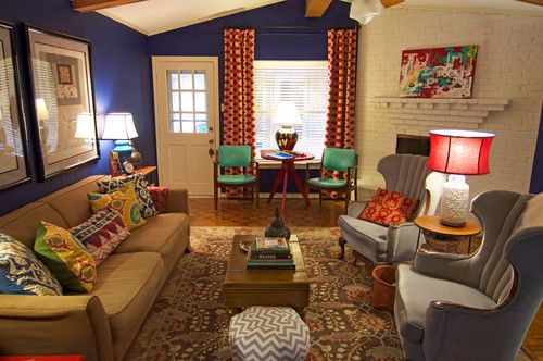 eclectic  living room - dallas - art and design by Sarah Greenman