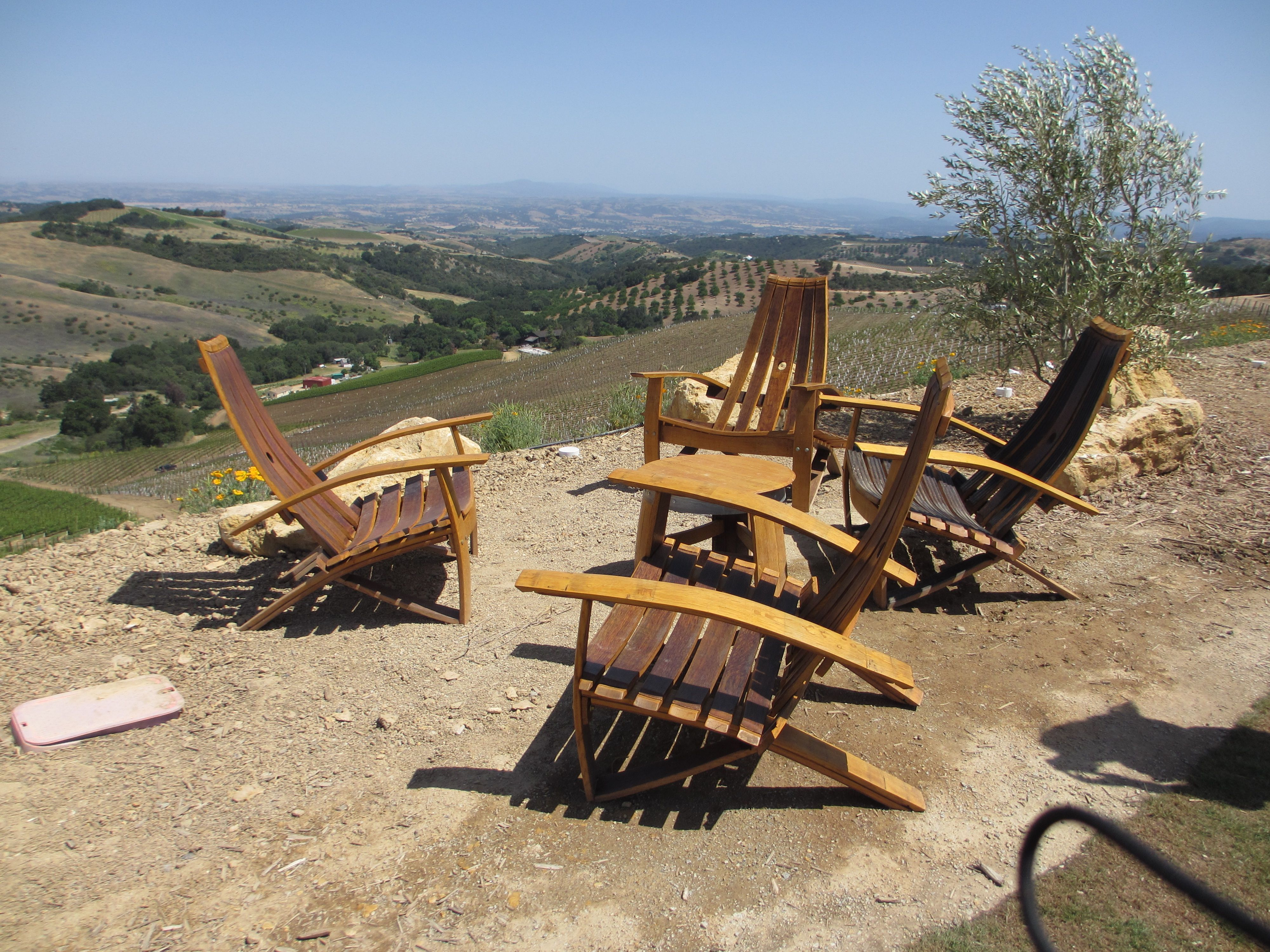 Daou Winery Paso Robles California Patio Furniture Made From Wine Barrels And A Fantastic View The Top Of Hill