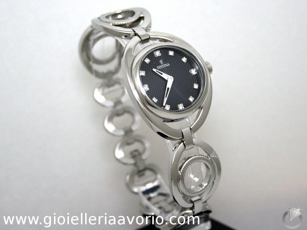 54337d2d8e5a1b Orologio Donna Festina F16598/4 Acciaio - 95 € | Orologi - Watches ...