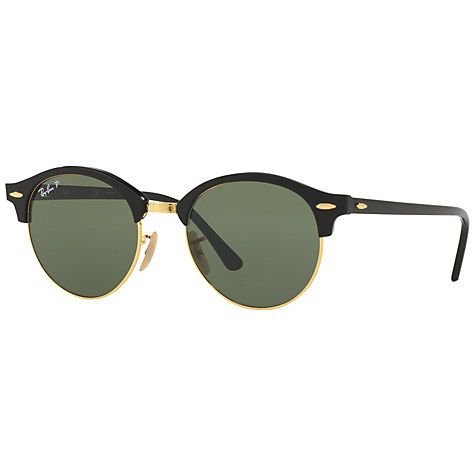 Buy Ray-Ban RB4246 Clubround Polarised Round Sunglasses Online at johnlewis.com